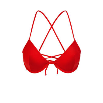 Alohiz red bikini top red.
