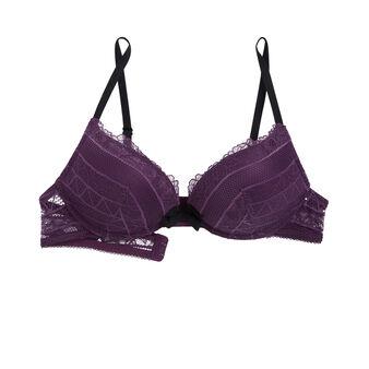 Pommiz purple ultra push-up bra.
