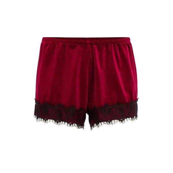 Faujeaniz burgundy shorts;${refinementColor}