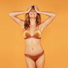 Rainiz golden yellow underwear red.