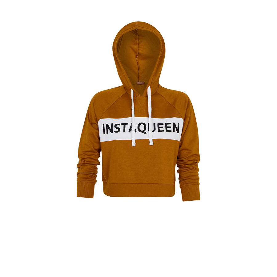 Loveninetiz golden yellow sweatshirt;${refinementColor}