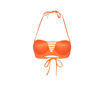 Tahitiz orange bikini top orange.