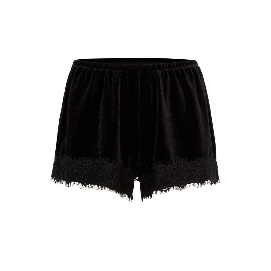 Faujeaniz black shorts;${refinementColor}