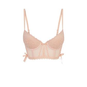Farwestiz pale pink push-up bustier bra pink.