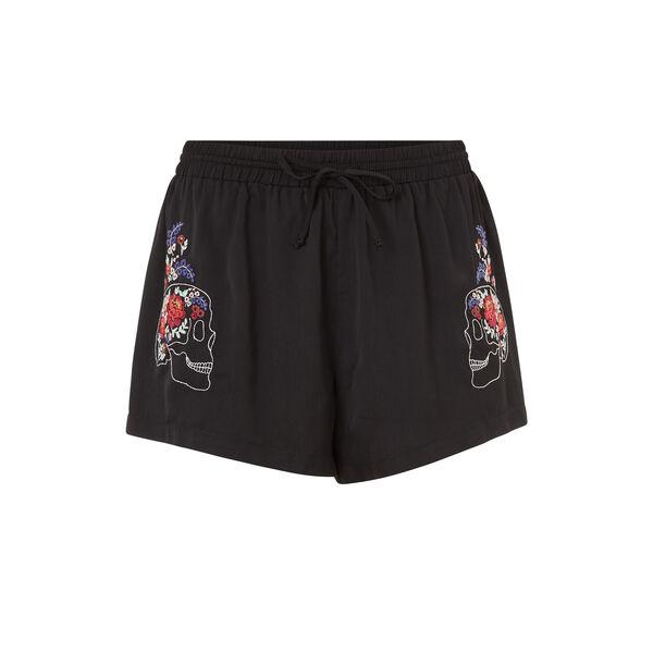 Muertiz black shorts;${refinementColor}