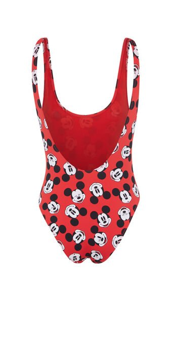 Red one piece swimsuit fundisniz red.