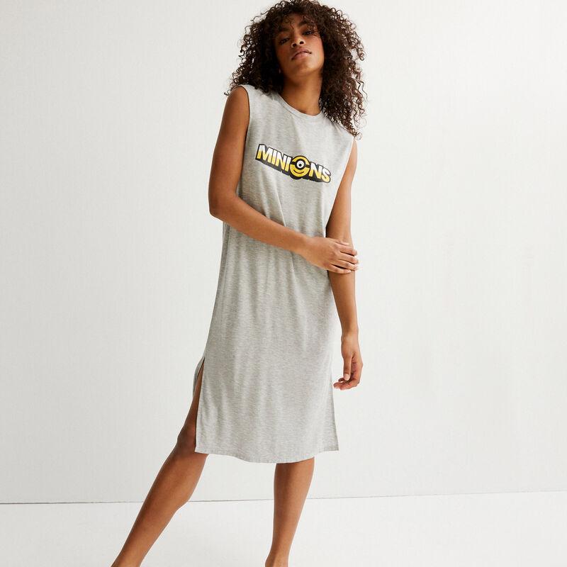 minions print dress - grey;