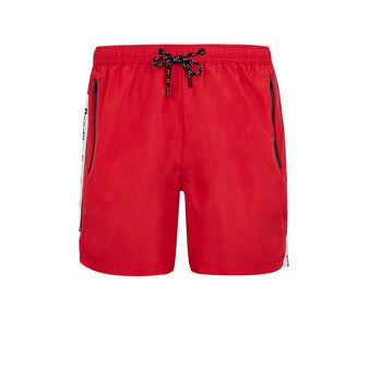 Banditiz red swim shorts red.