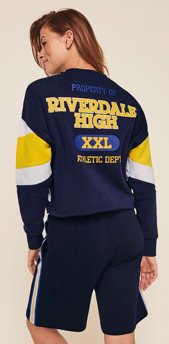 Rivervixiz long fleece shorts navy blue.