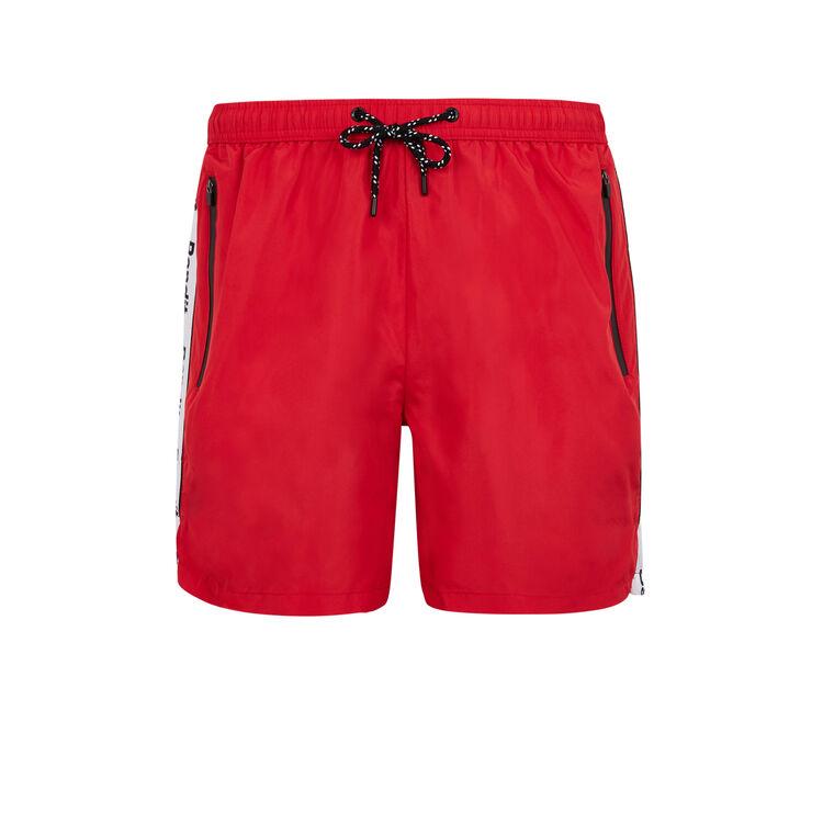 Banditiz red swim shorts;