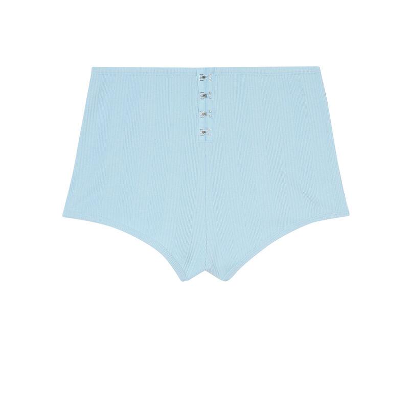 шорты из джерси с корсетной деталью - синий;