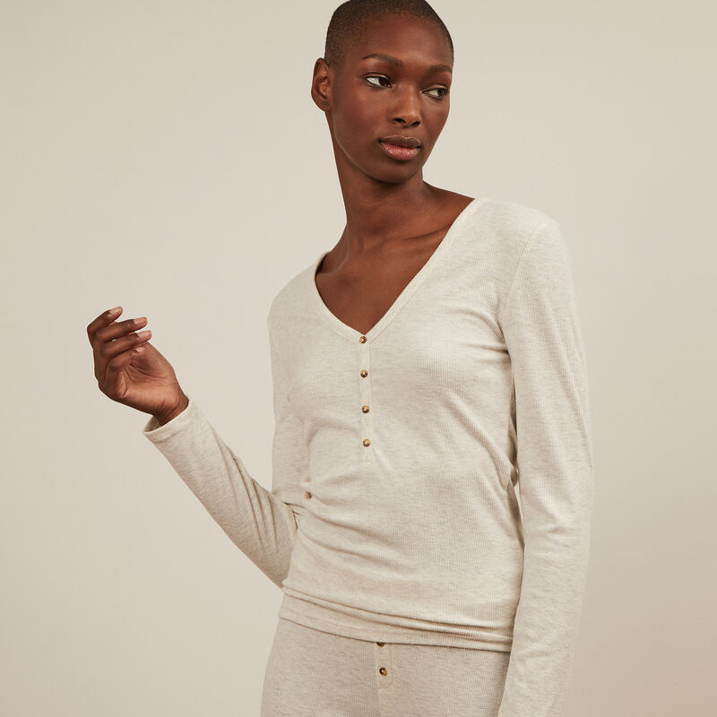 Long-sleeved top - grey;