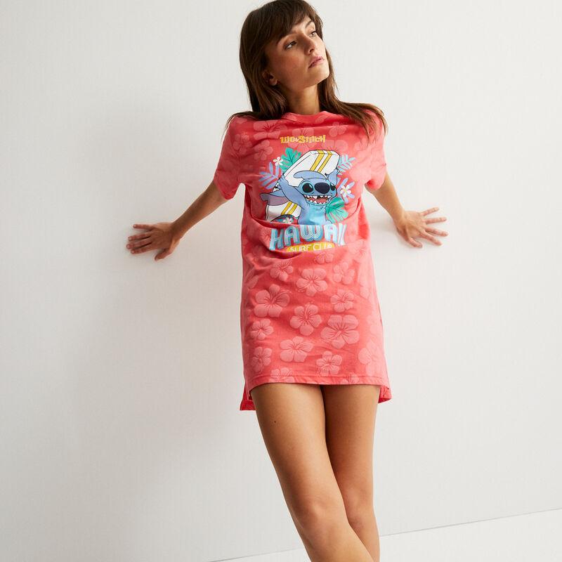 Stitch tropical tunic - coral;