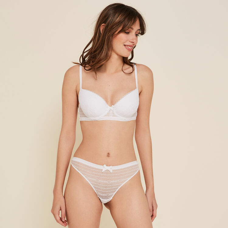 New voltiz white padded demi-cup bra;