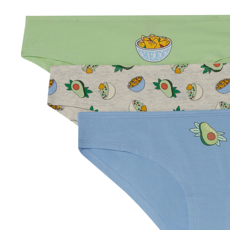 pack of 3 avocado lover briefs - off-white;