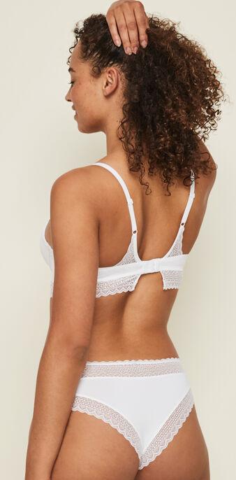Aciduliz white padded bra white.