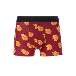 Baskoiz burgundy boxer shorts red.