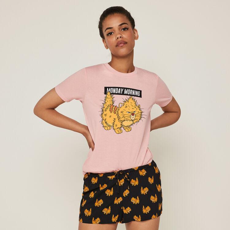 Nomondayiz Toulouse print Aristocats shorts;