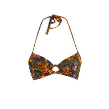 Gabiz orange push-up bikini top orange.