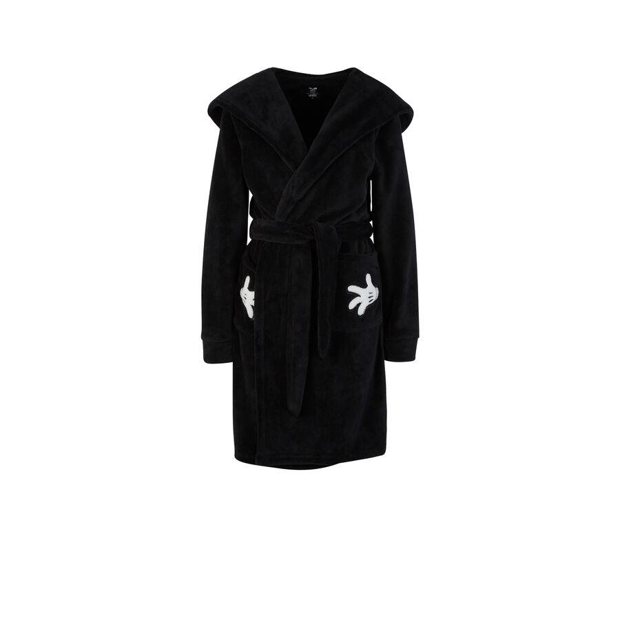 Cutmiz black dressing gown;