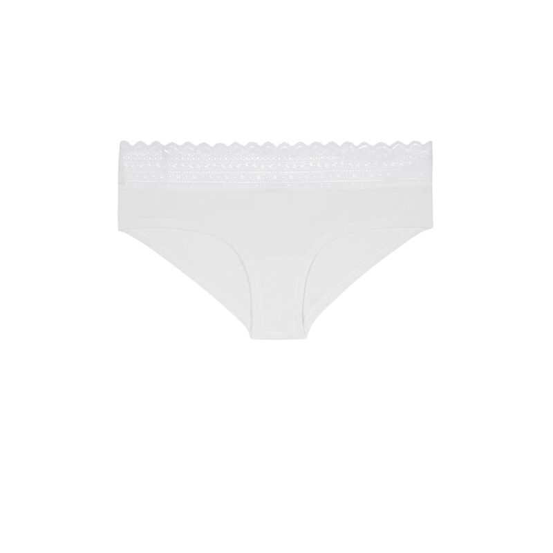 Бежевато-белые трусики-шорты waistiz;