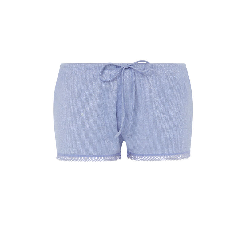 Shorts with drawstring waist - lilac;