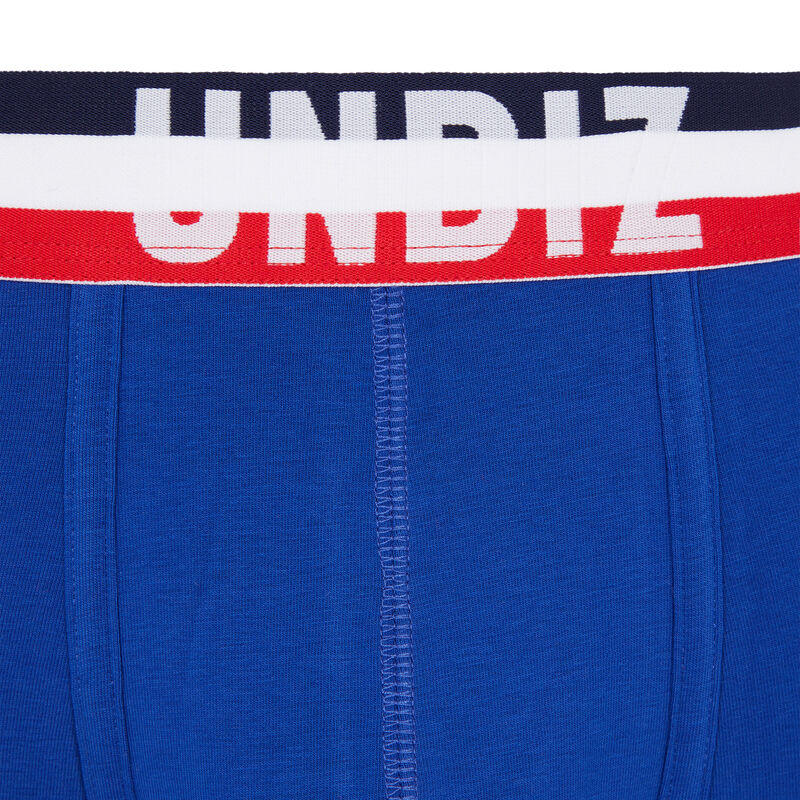 Tricolour cotton boxers - blue;