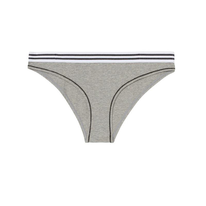 elasticated cotton briefs - grey;