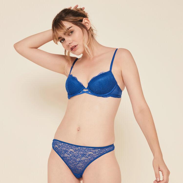 Everydayiz royal blue push-up bra;