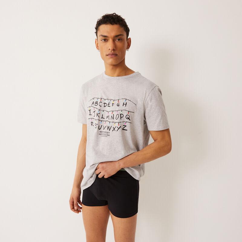"""футболка """"Очень странные дела"""" - серый;"""