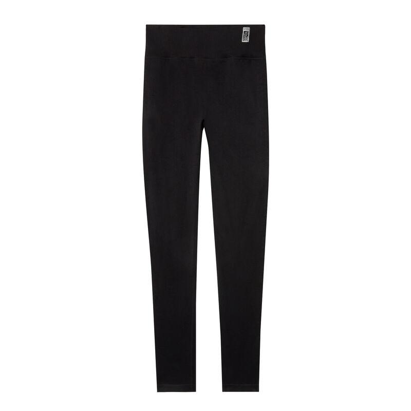 twist effect leggings - black;