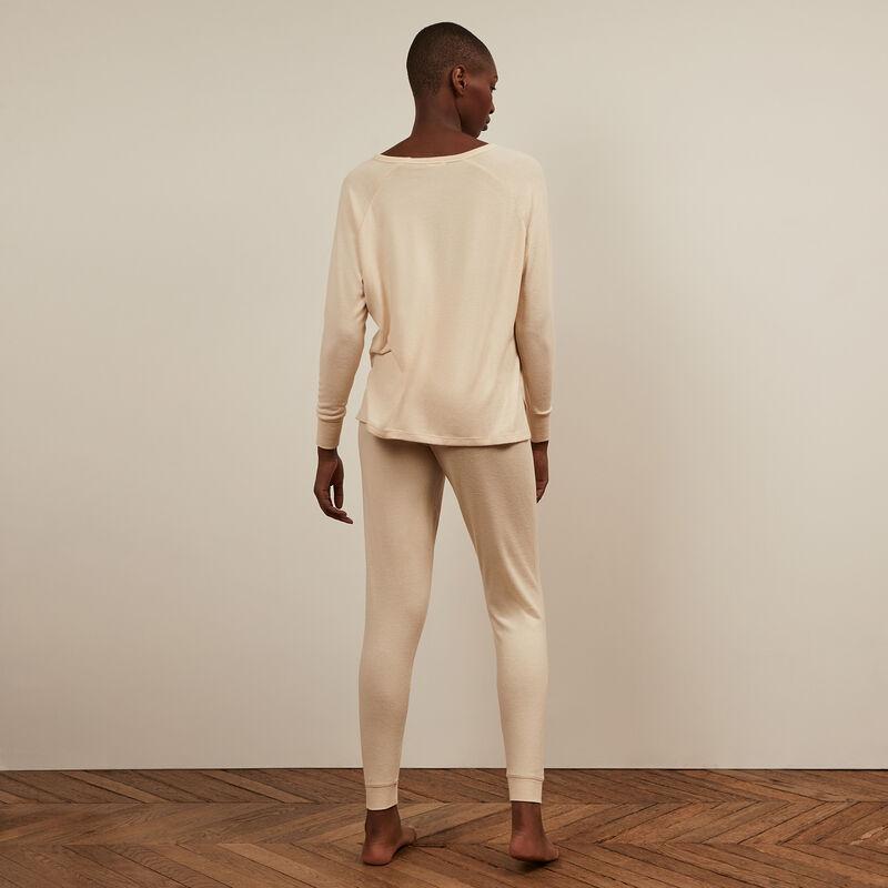 Spodnie z dzianiny - złamana biel ;