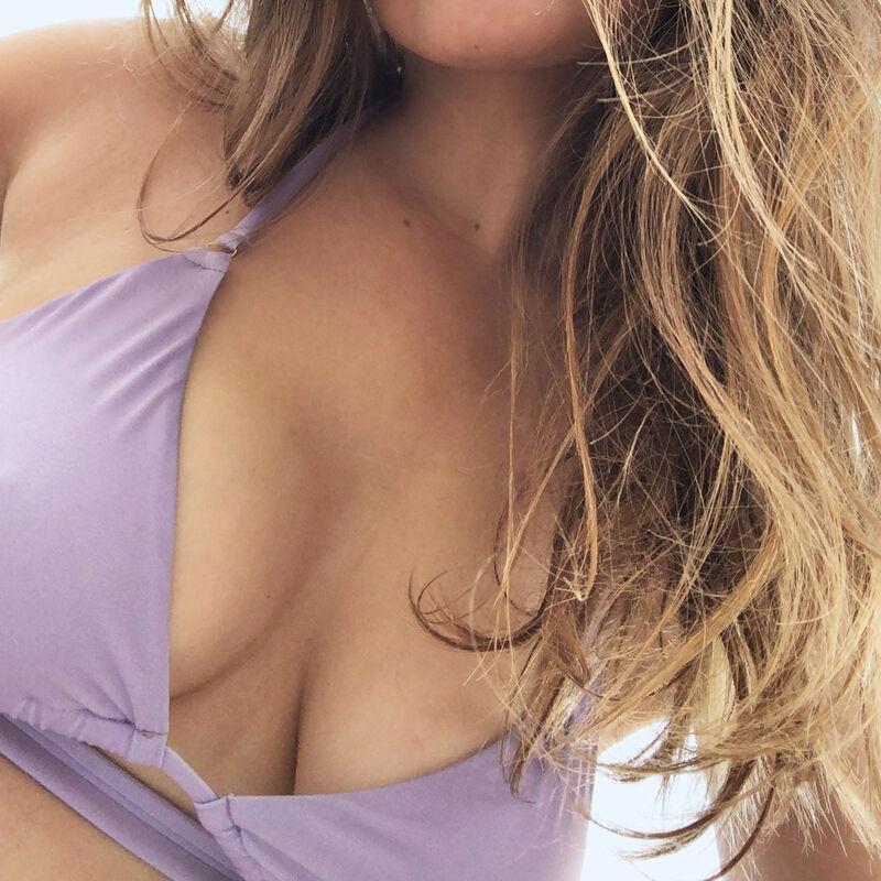 double wrap-around triangle bikini top - lilac;