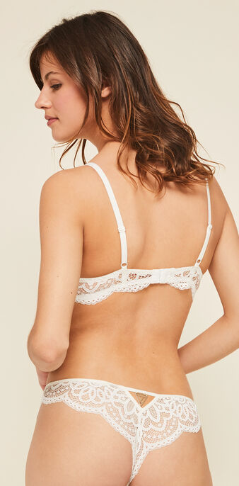 Precieusiz white push-up bustier bra white.