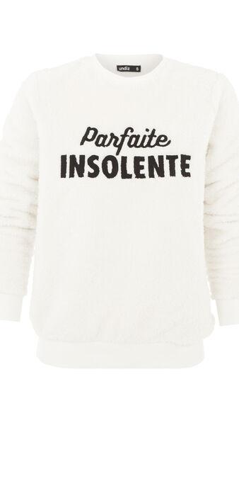Parfaitiz white sweatshirt white.