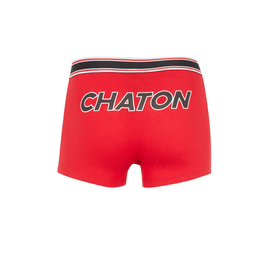Chatonniz red boxers;