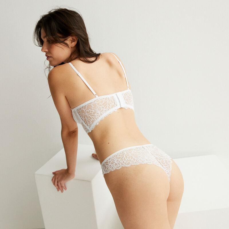 lace push-up bra - white;