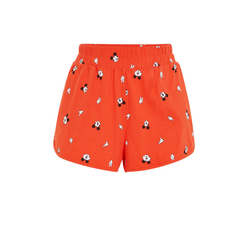 Mickey print shorts - orange ;