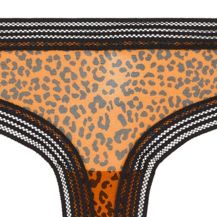 Трусики-шорты из тюля с леопардовым принтом wafiz leopiz;