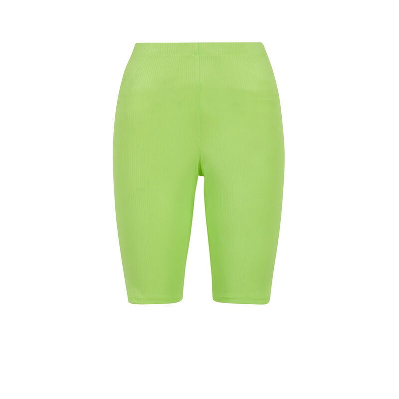 Fluorescent yellow longkimmiz shorts;