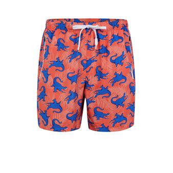 Crocodiliz coral swim shorts pink.