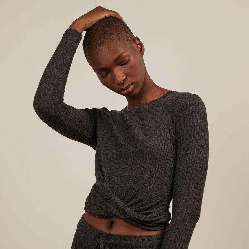 Long-sleeved top - grey;