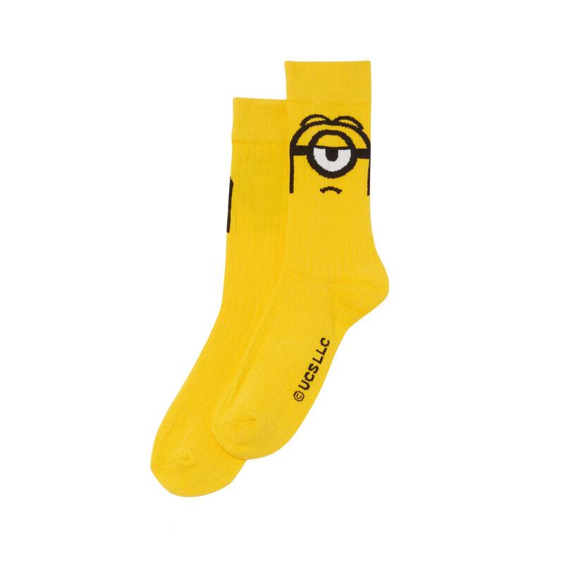 Minions socks - yellow;