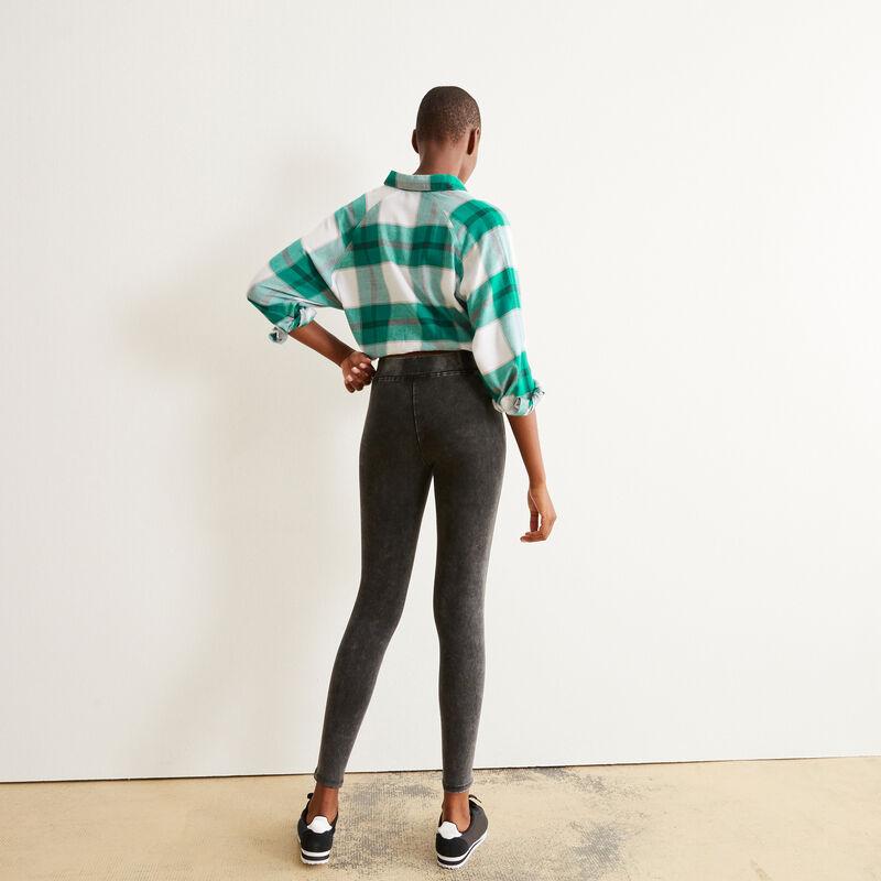 distressed leggings - black;