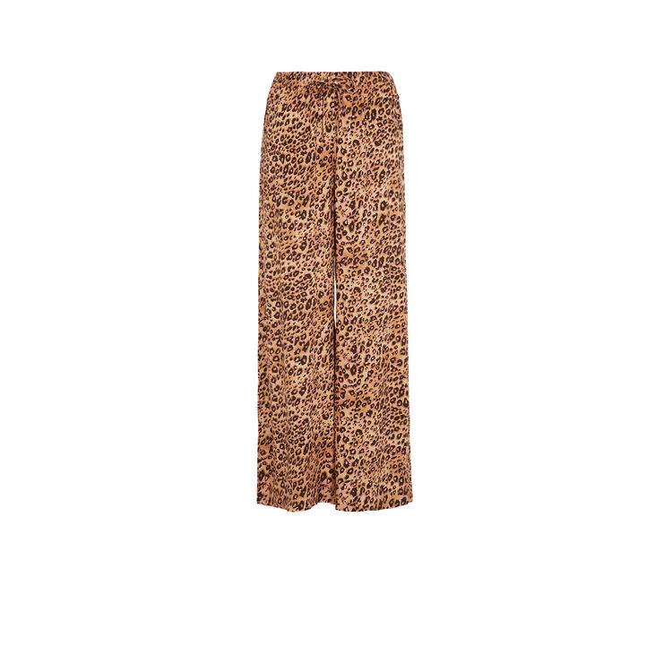 Spodnie w cętki leopiz;