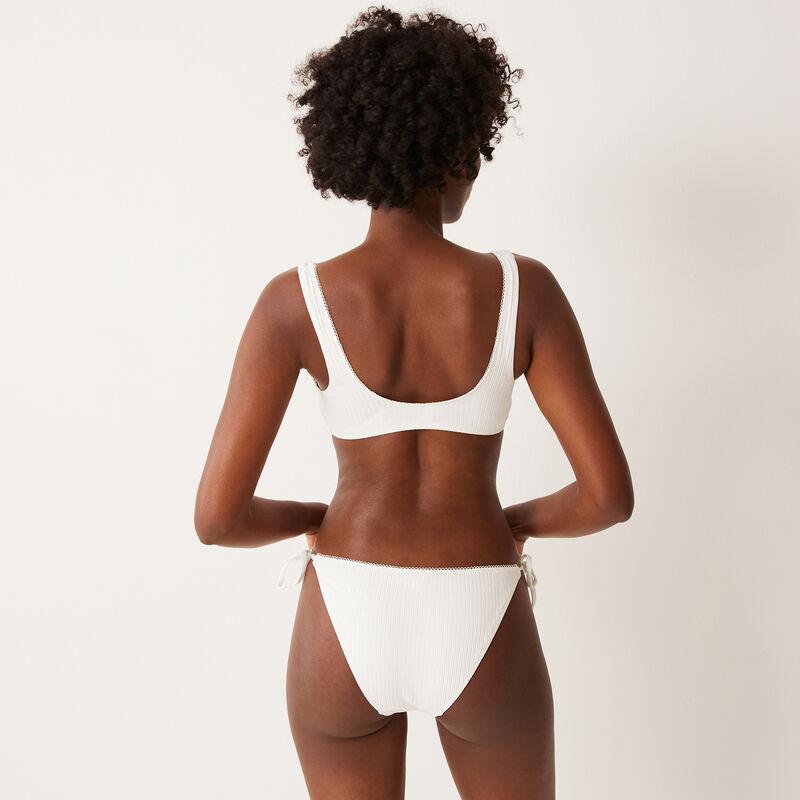 tie-side bikini bottoms - off-white;