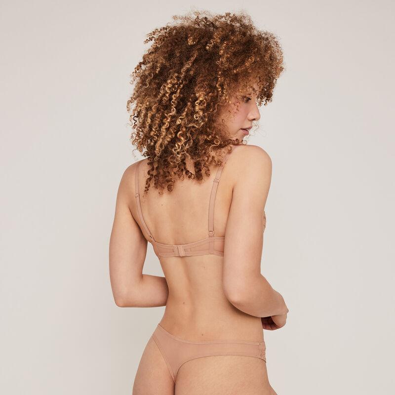 New voltiz nude padded demi-cup bra;