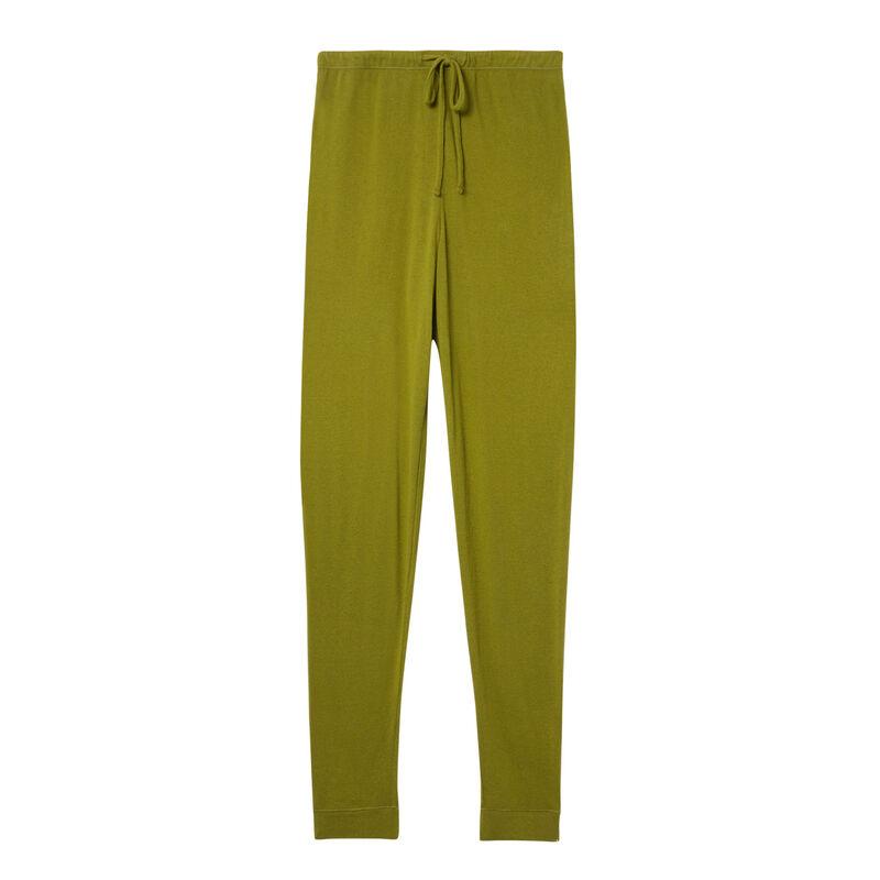 spodnie z dzianiny — khaki;
