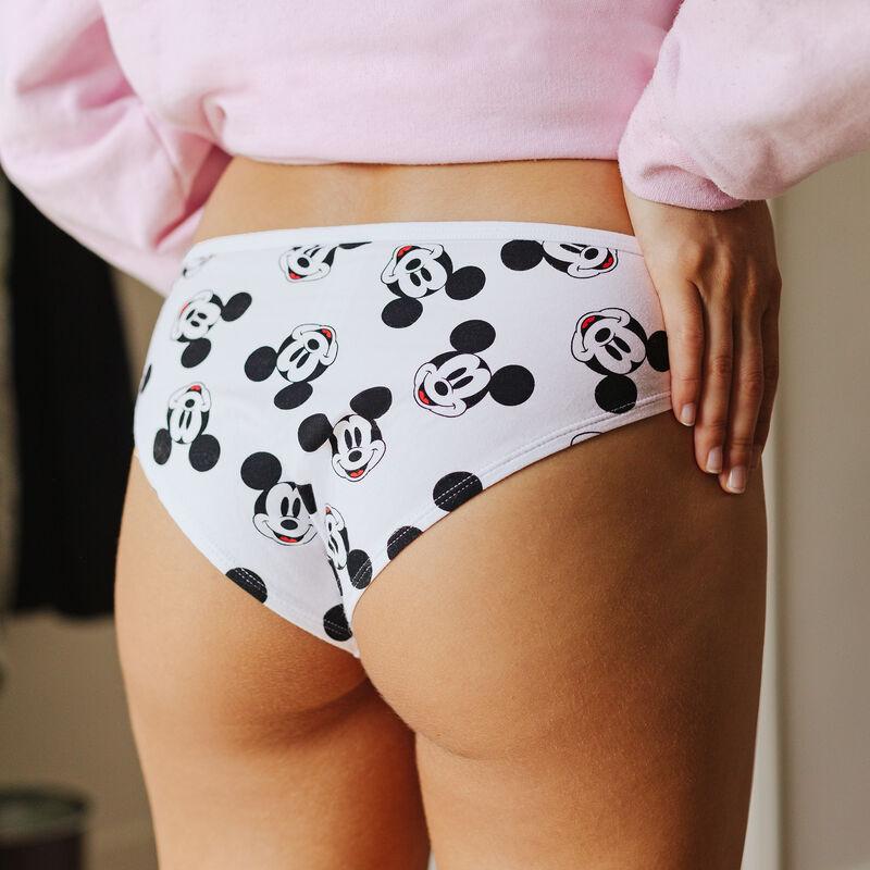 Mickey print shorts - white;