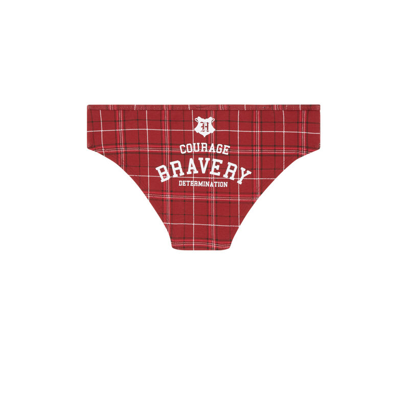 Harry Potter printed hipsters - burgundy;